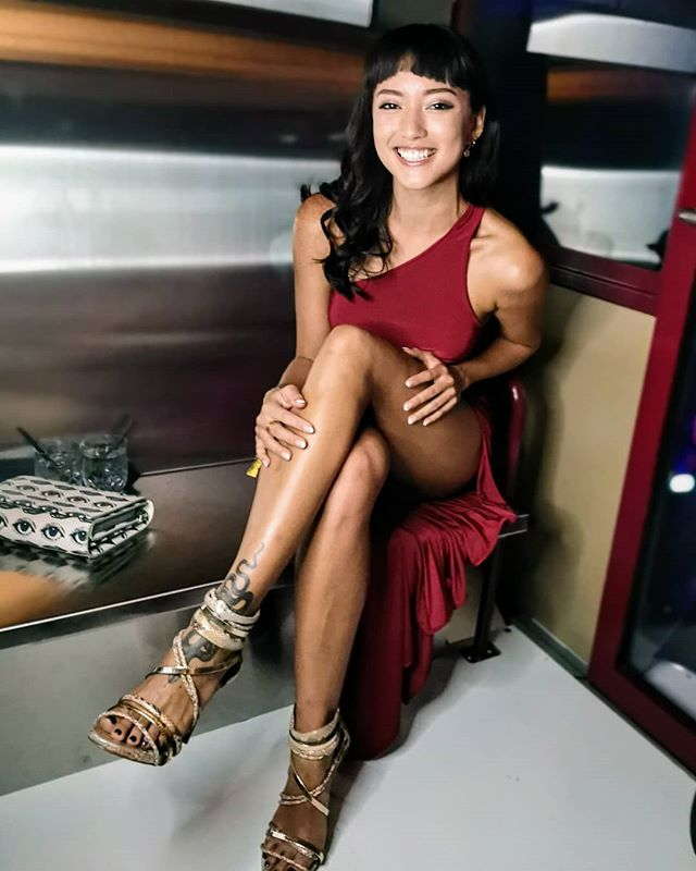 I never thought I'd be wearing heels in a ferris-wheel inside a club inside a mall. Life is so fabulously strange! ✨Had so much fun at the opening of Marquee Singapore! Merci @rentadella for this gorgeous wine coloured one shoulder number ❤️#rewritetherules #marqueesingapore