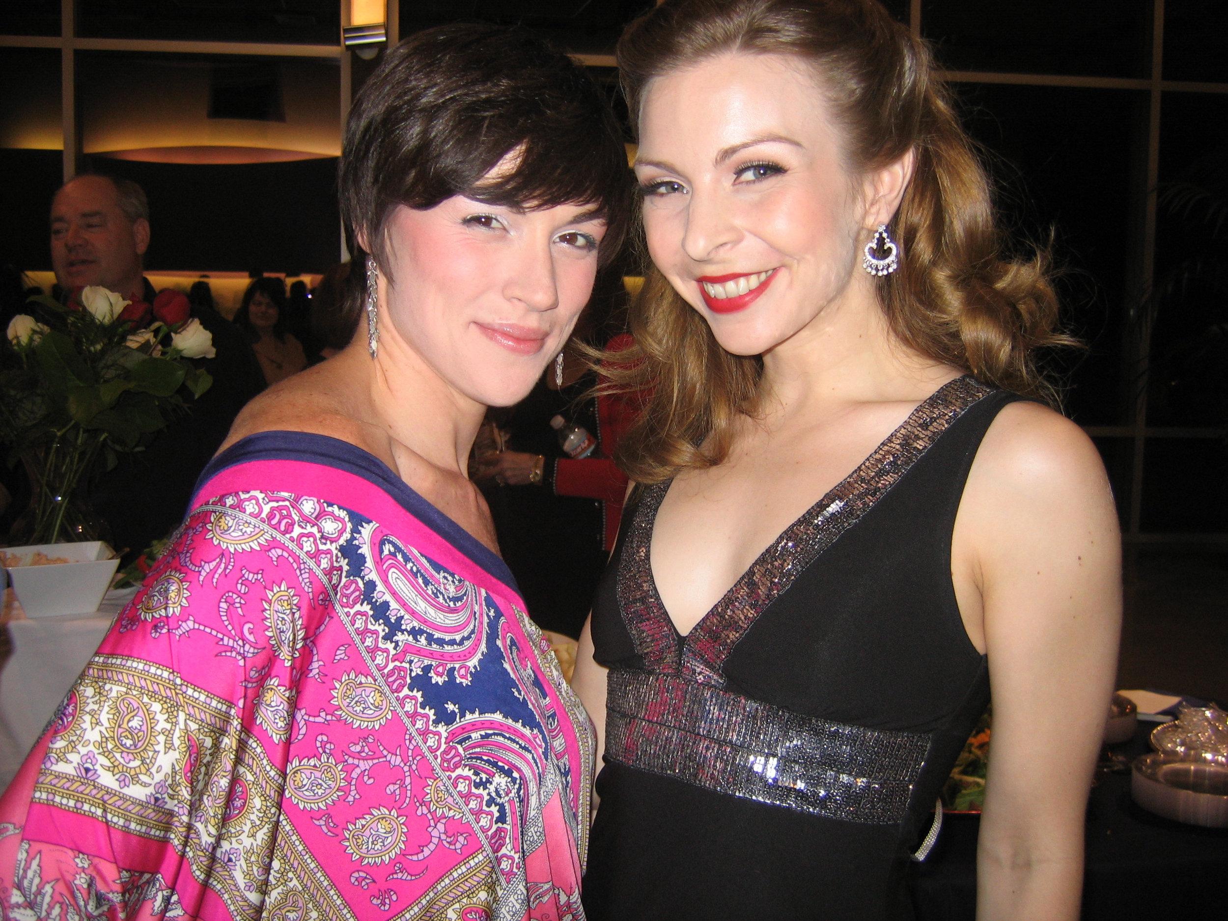 Opening night with Lindsay Roginski (Lola).