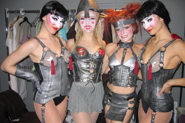 Glory costumes, with Molly Tynes, Candy Olsen, & Lauren DeCierdo.