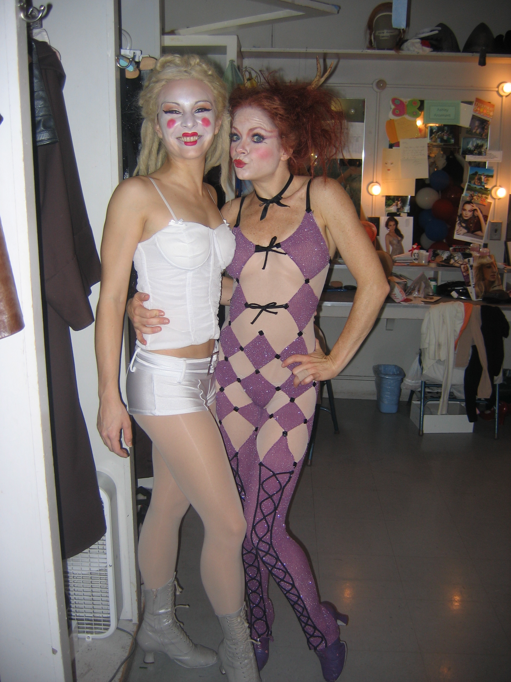 Loved our crazy costumes! With Candy Olsen.