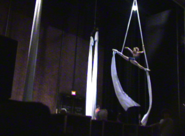 Aerial call before the show.