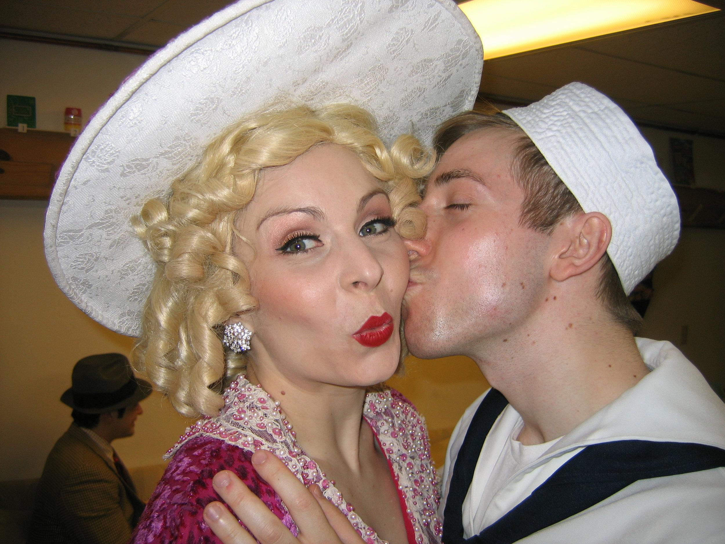 Sailor smooch!  Thanks, Billy Griffin.