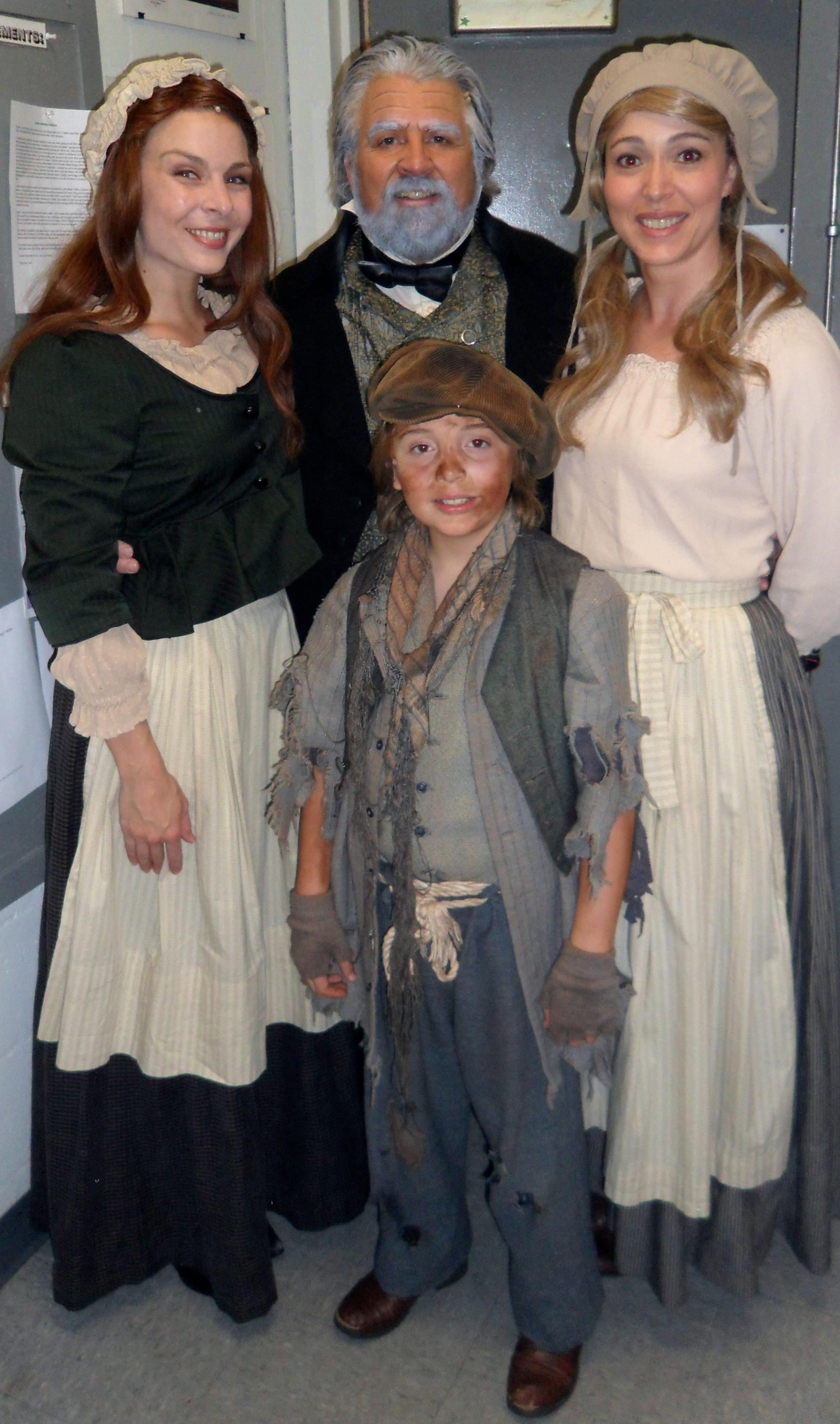 The crazy talented Felty family! David (Jean Valjean), Jen (Ensemble), & Noah (Gavroche).