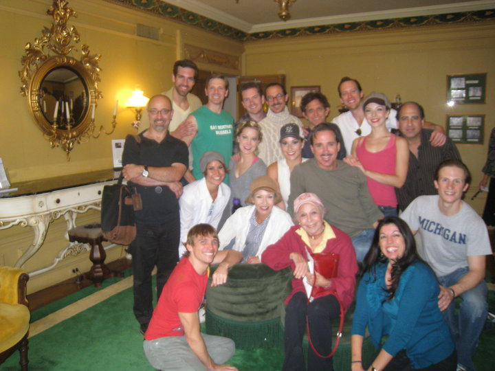 The cast with Marge Champion!