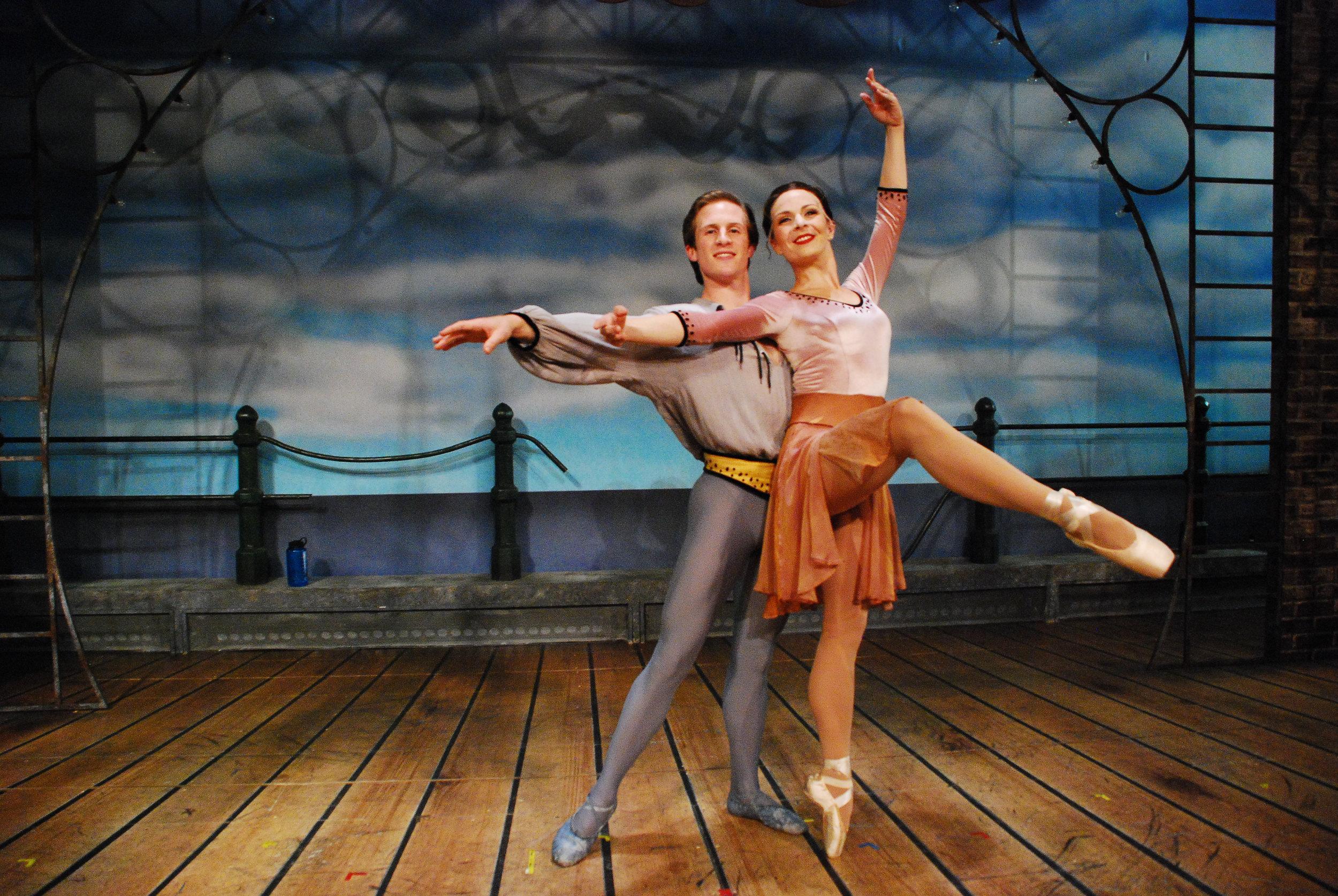 With my ballet partner, Justin Urso.