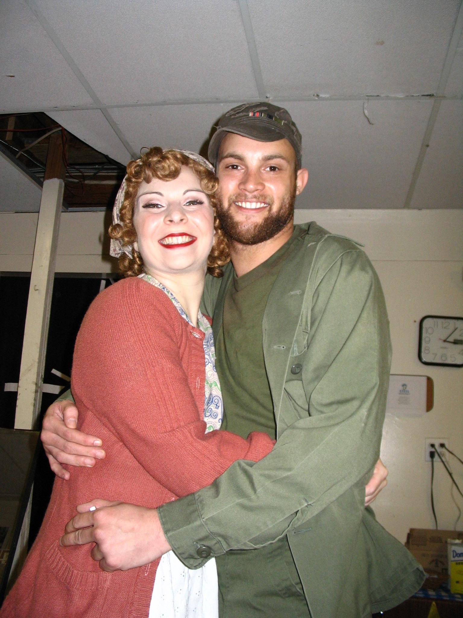 Evita, with current Hamilton star Gregory Treco.