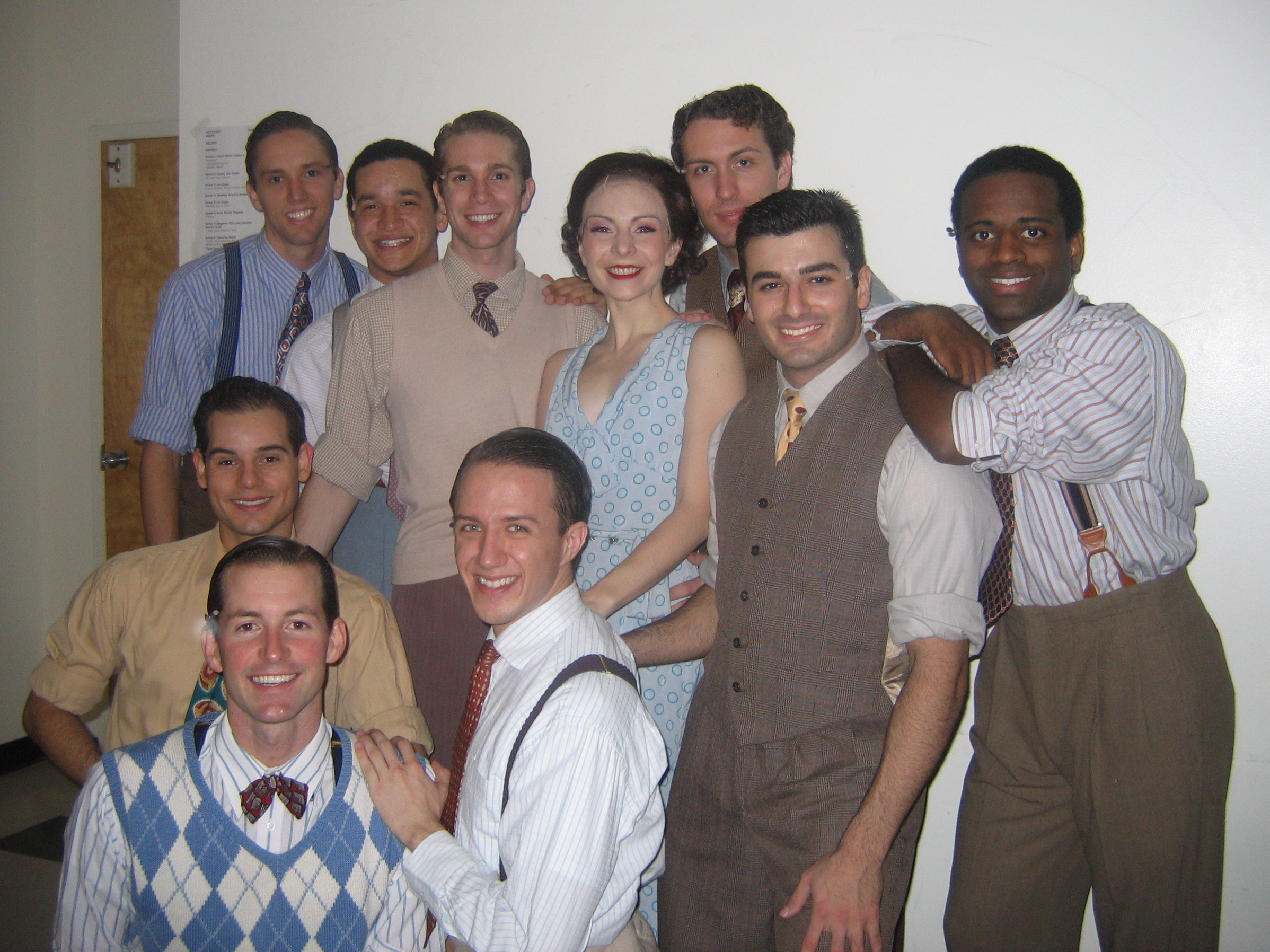 The most phenomenal tap dancers you could imagine working with.