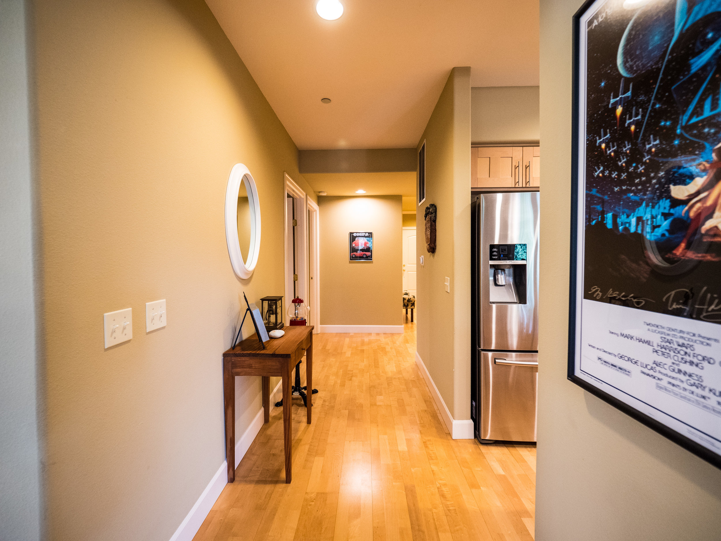 Wide hallways offer great accessibility.
