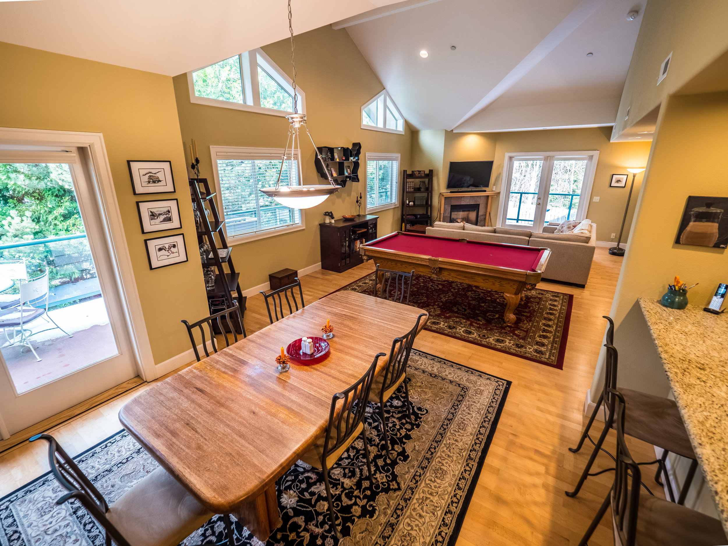 Spacious one-level living perfect for entertaining.