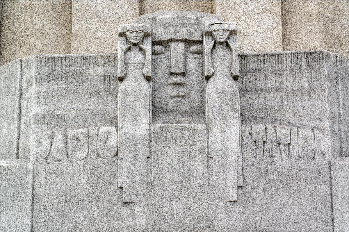 *Detail of the facade of Radio Kootwijk in the province of Gelderland, The Netherlands