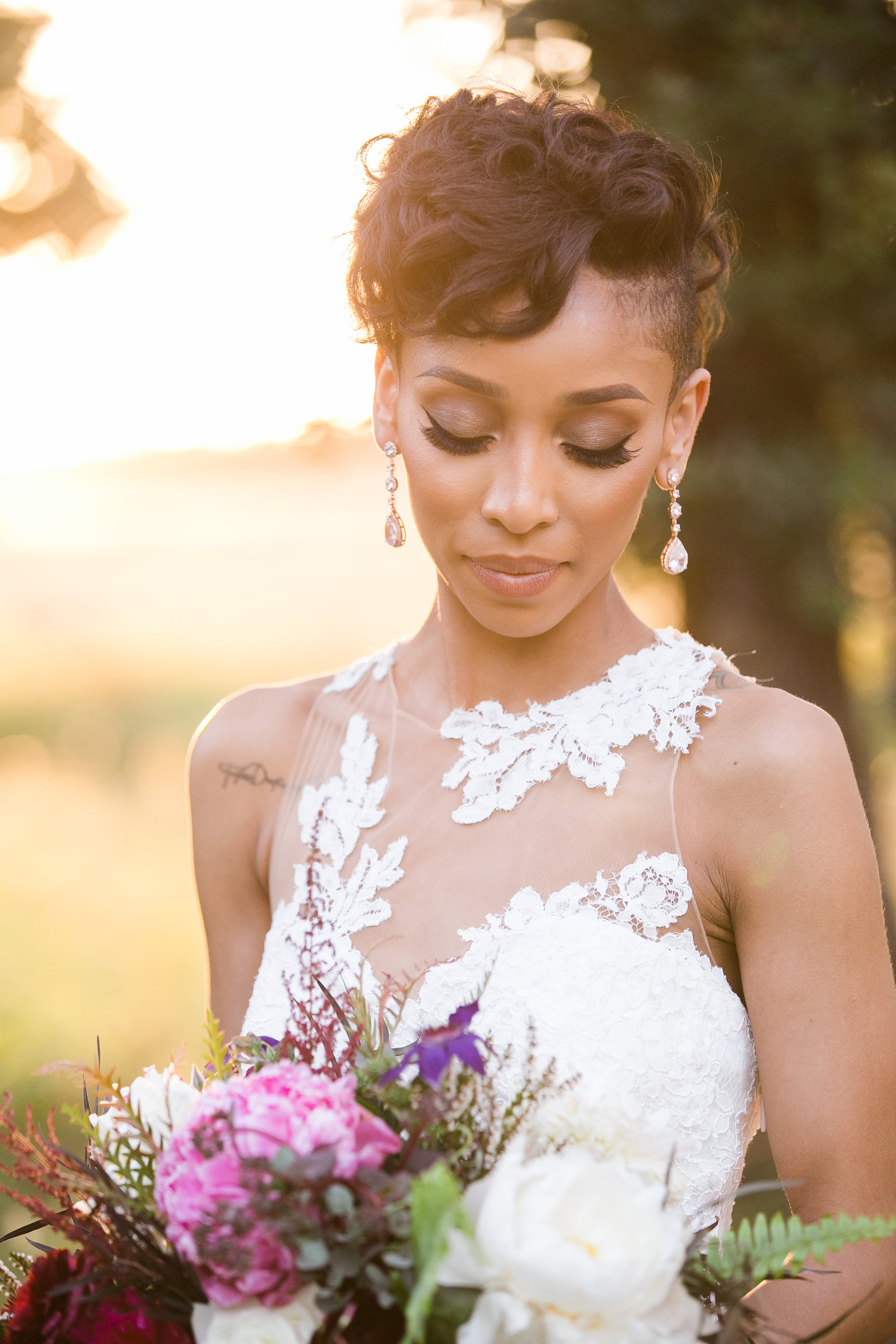 We specialize in all things bridal! Click here to view bridal hair and makeup prices!