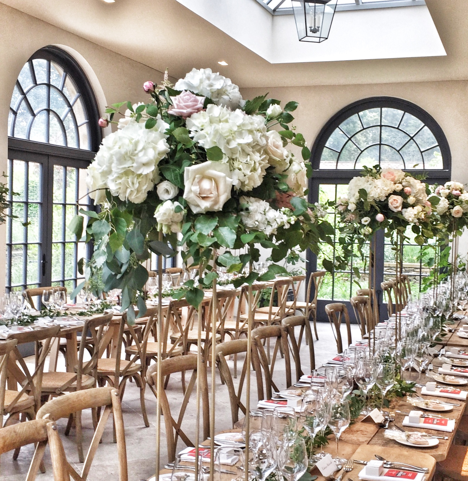 Tall Table centres florist in harrogate