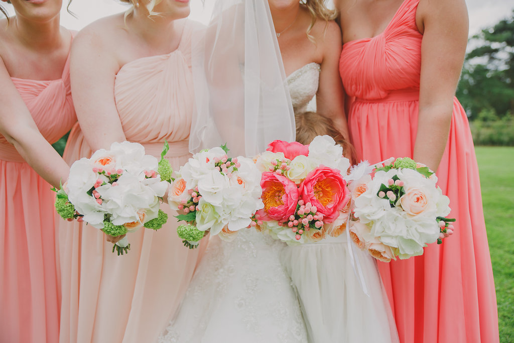 Coral Wedding Flowers Harrogate