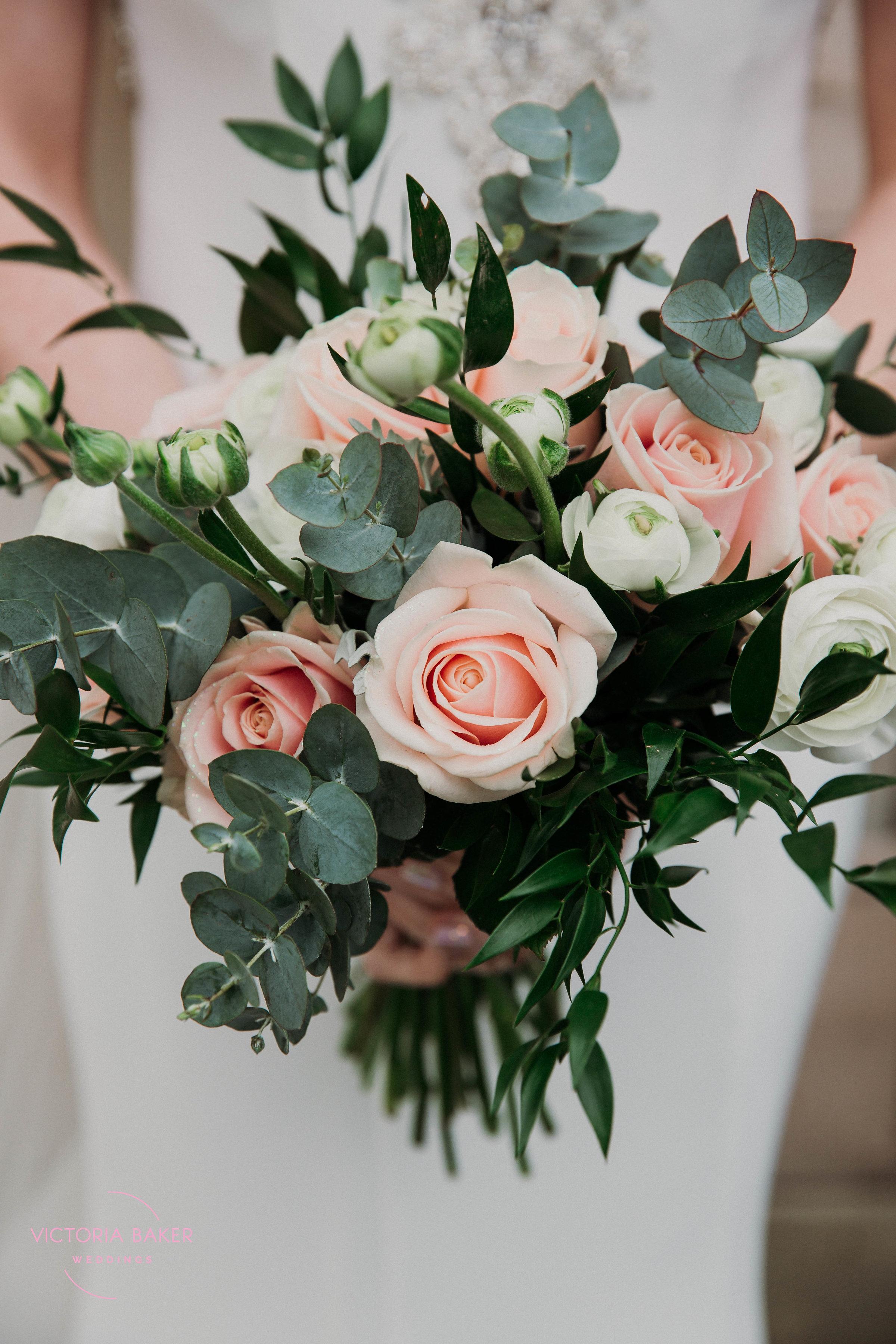 Pink and white wedding flowers harrogate