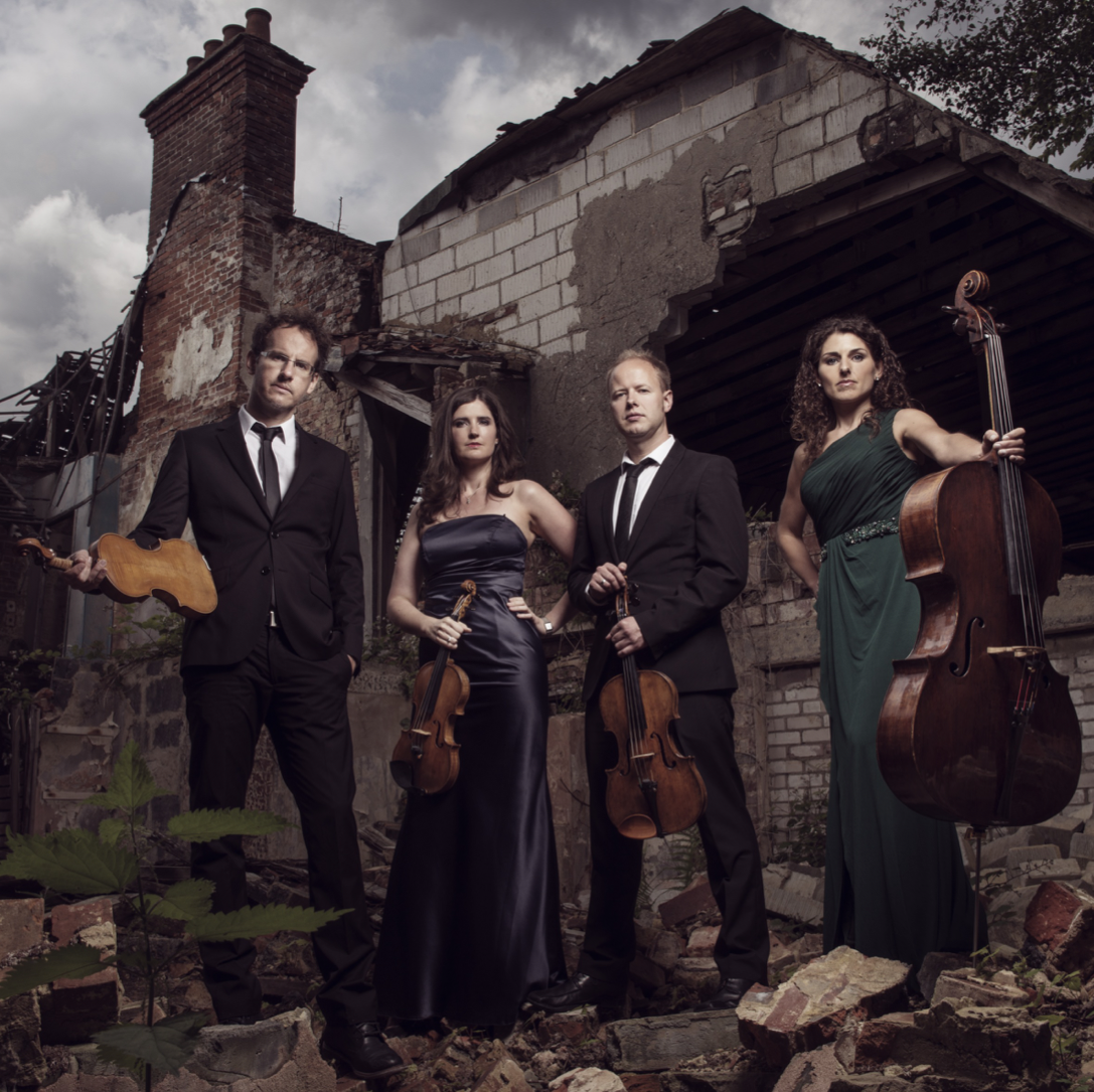 BIOGRAPHY - One of the most successful ensembles of their generation, the Carducci Quartet performs over 90 concerts worldwide each year, as well as running an annual festival in Highnam, Gloucester. Winner of the Concert Artists Guild International Competition and Finland's Kuhmo International Chamber Music Competition, the Anglo-Irish quartet is appearing at prestigious venues and festivals across the globe. Alongside their own recording label, Carducci Classics, they have released a number of acclaimed discs for Signum Classics and Naxos. 2015 saw them receive a Royal Philharmonic Society award for a substantial project presenting Shostakovich's complete quartets: Shostakovich15.Full biographies are available in: EN