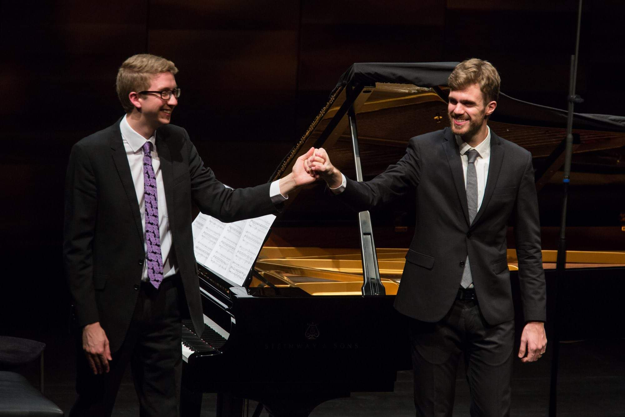 Josep and Ian Tindale on the 1st Echo Rising Stars recital in Budapest