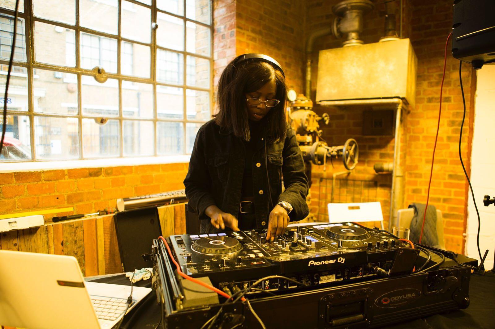 Esther Wanyama at the decks