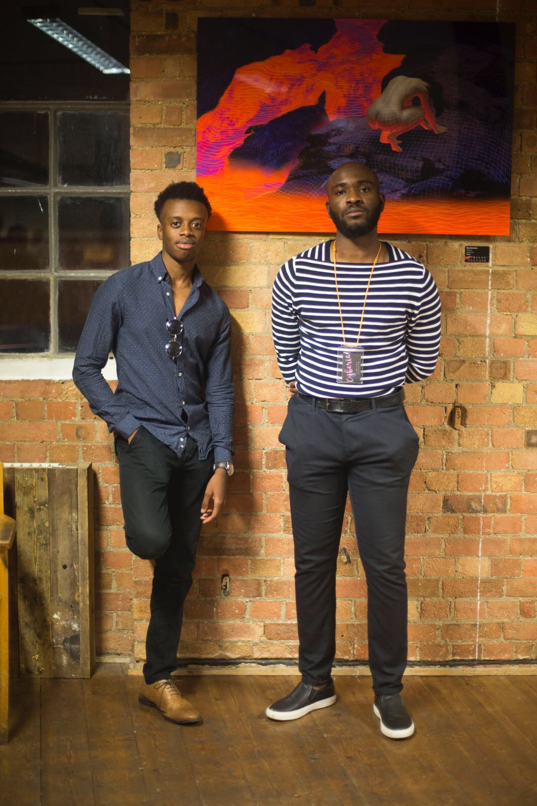 (on the right) Ope Deyileka, Art Director of the Event