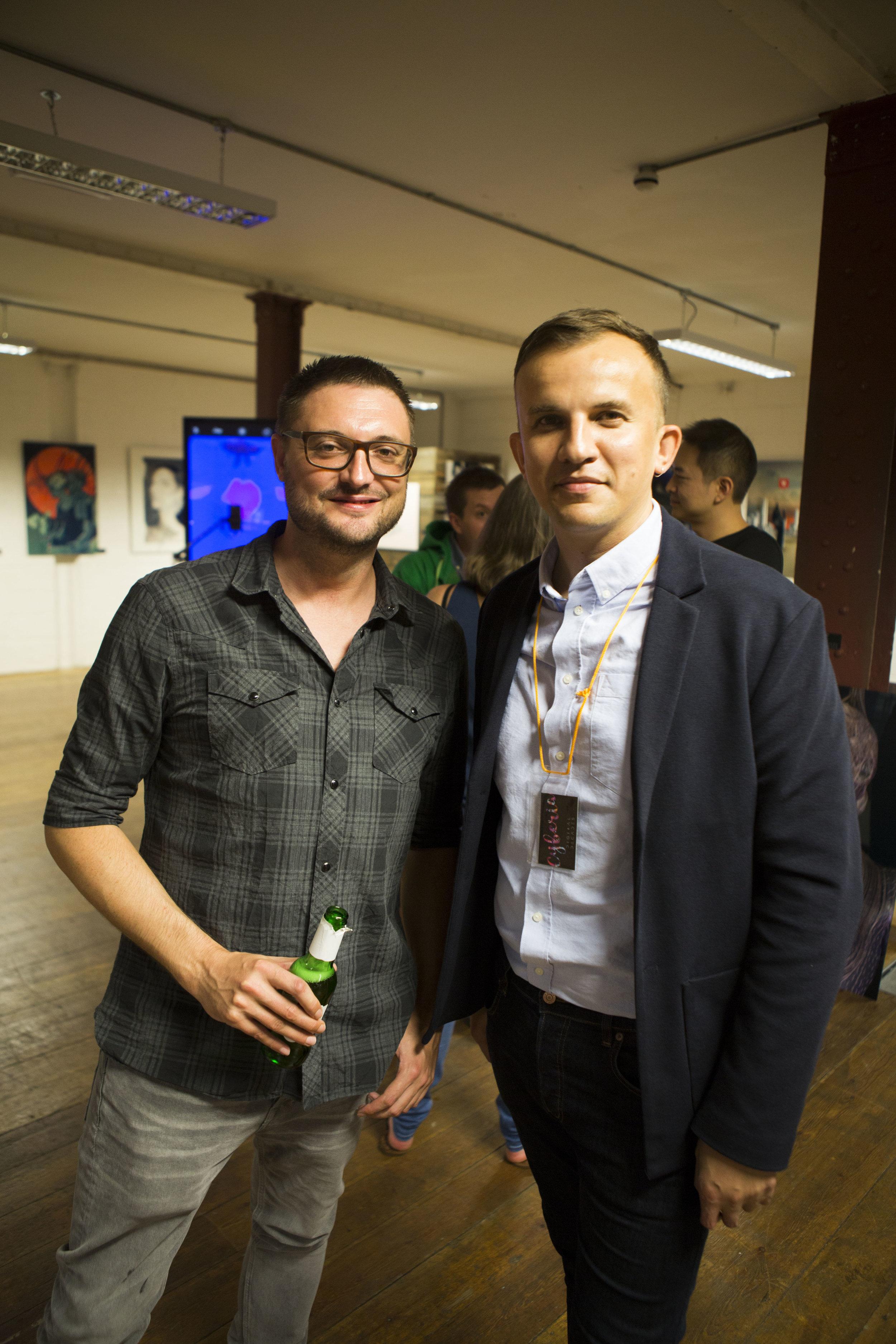 Antony Kitson (artist) and Arseny Vesnin (curator)