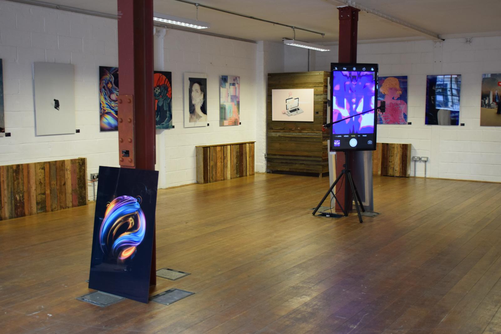 Artwork by Rik Oostenbroek in front