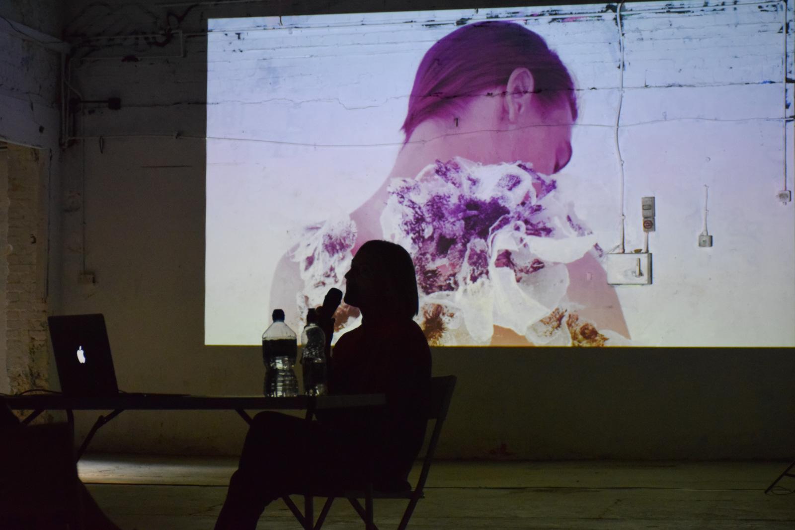 Artist Anna Neklesa speaking about near-future materials