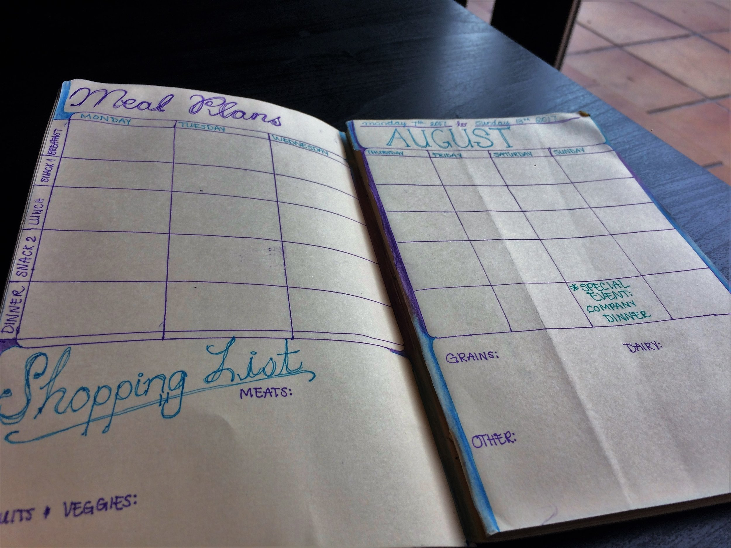 bullet journal health pages health and fitness tracker ideas food log inspiration goals doodles layout spread my life track how to start a diy pages 1