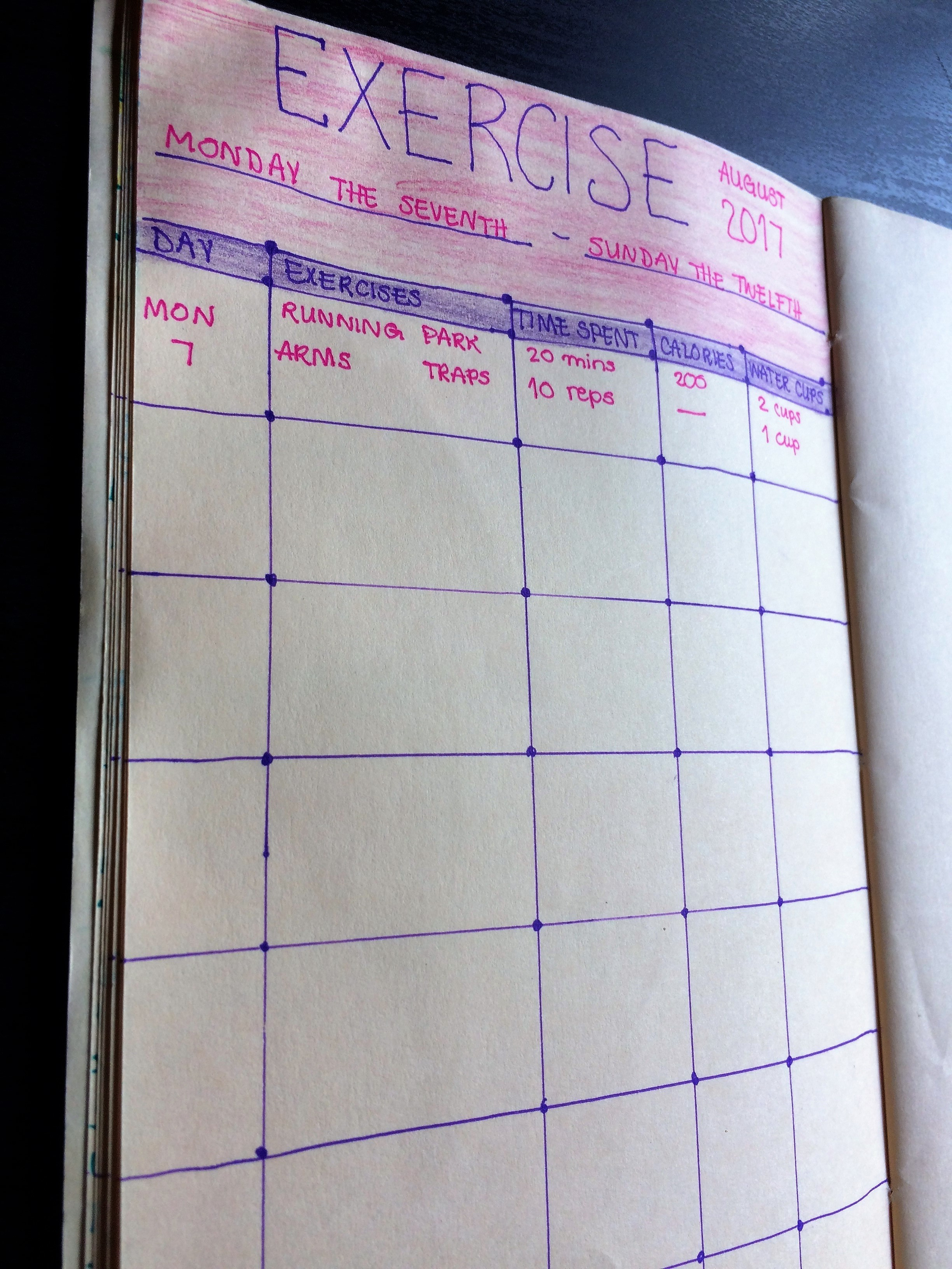 bullet journal health pages health and fitness tracker ideas food log inspiration goals doodles layout spread my life track how to start a diy pages 4