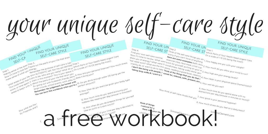 your unique self-care style 30 day self care challenge schedule routines ideas products activities self care tips for moms journal for women