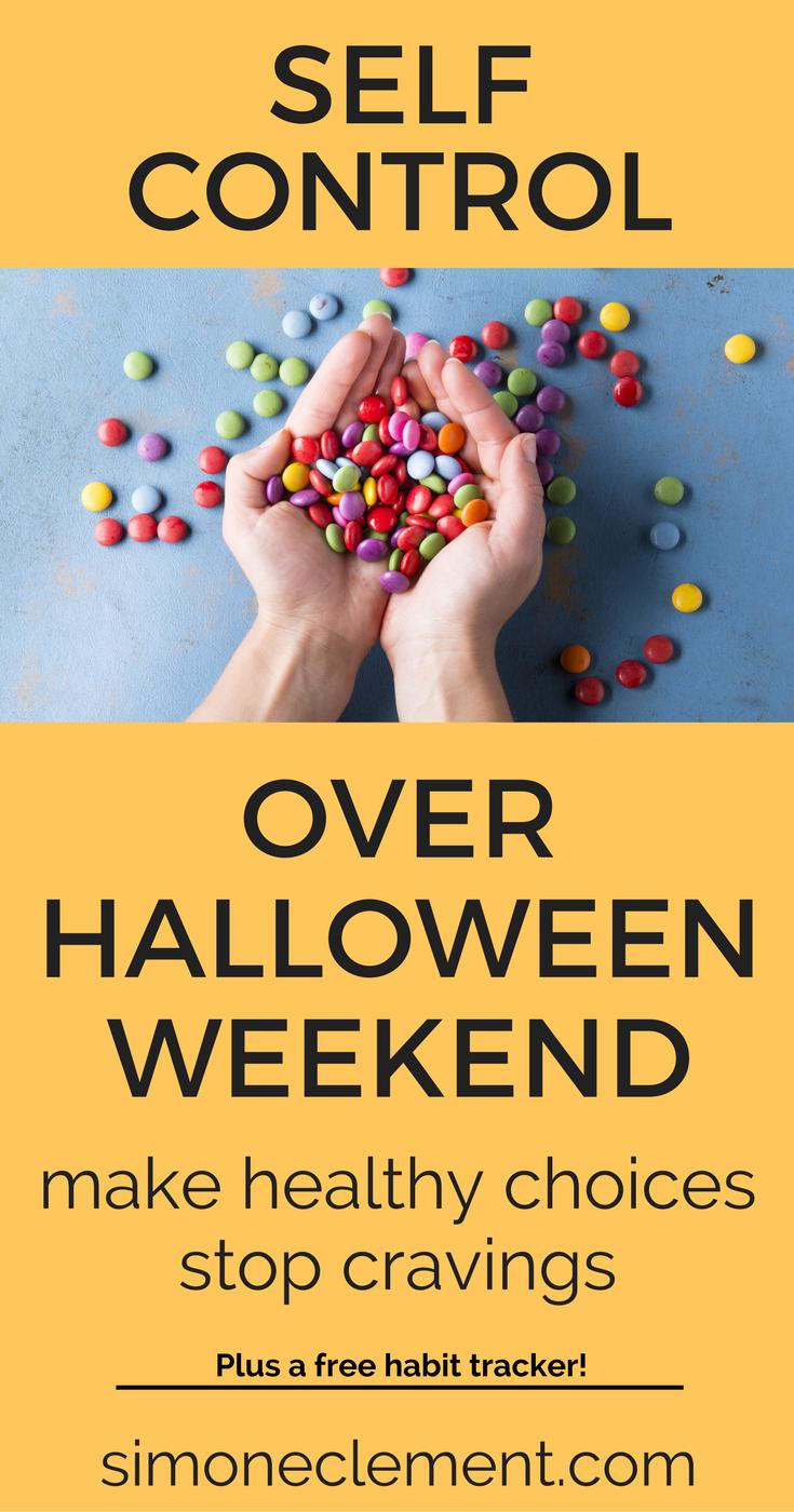 Self control Halloween temptation binge too much healthy habits sugar high sugar crash how much sugar a day eating too much