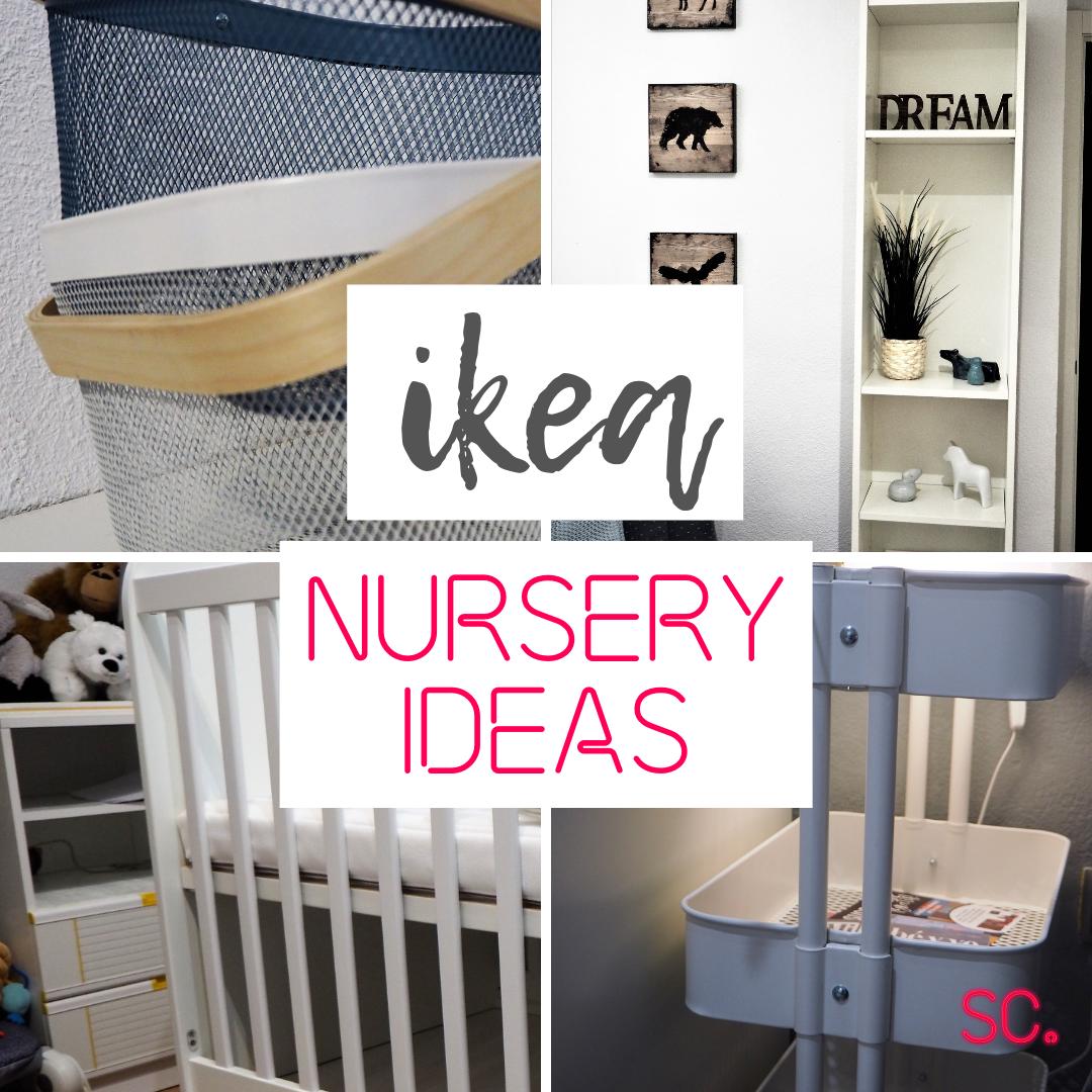 ikea nursery ideas, ikea nursery hacks, nursery budget decoration, cheap decoration for a nursery, ikea crib, ikea organization, organize the nursery, budget decoration, prepare for baby