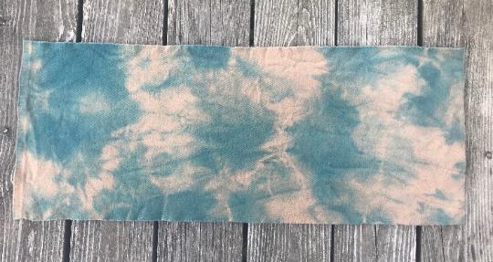 Wool Fabric Dyed Blue /& Tan