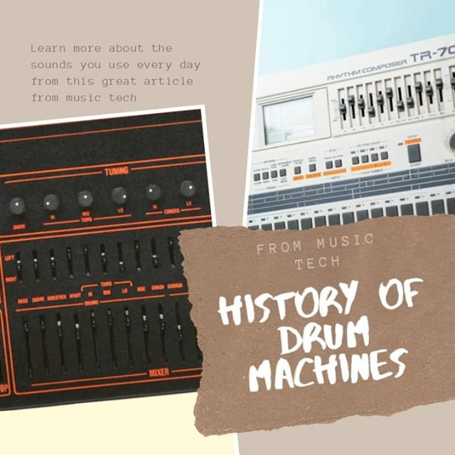 Have you wondering where all the sounds you have been using come from?  Well this great article from Music Tech will help show the light  Whats your fav all time drum machine?  Click here for more info: http://bit.ly/2ZDmABn?platform=hootsuite&utm_campaign=HSCampaign