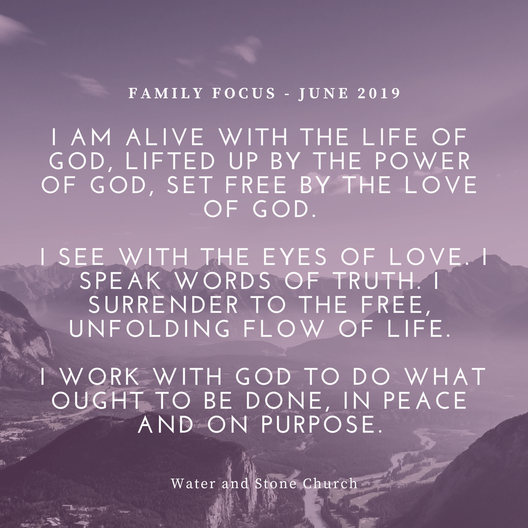 Family Focus - June 2019 — Water and Stone Church