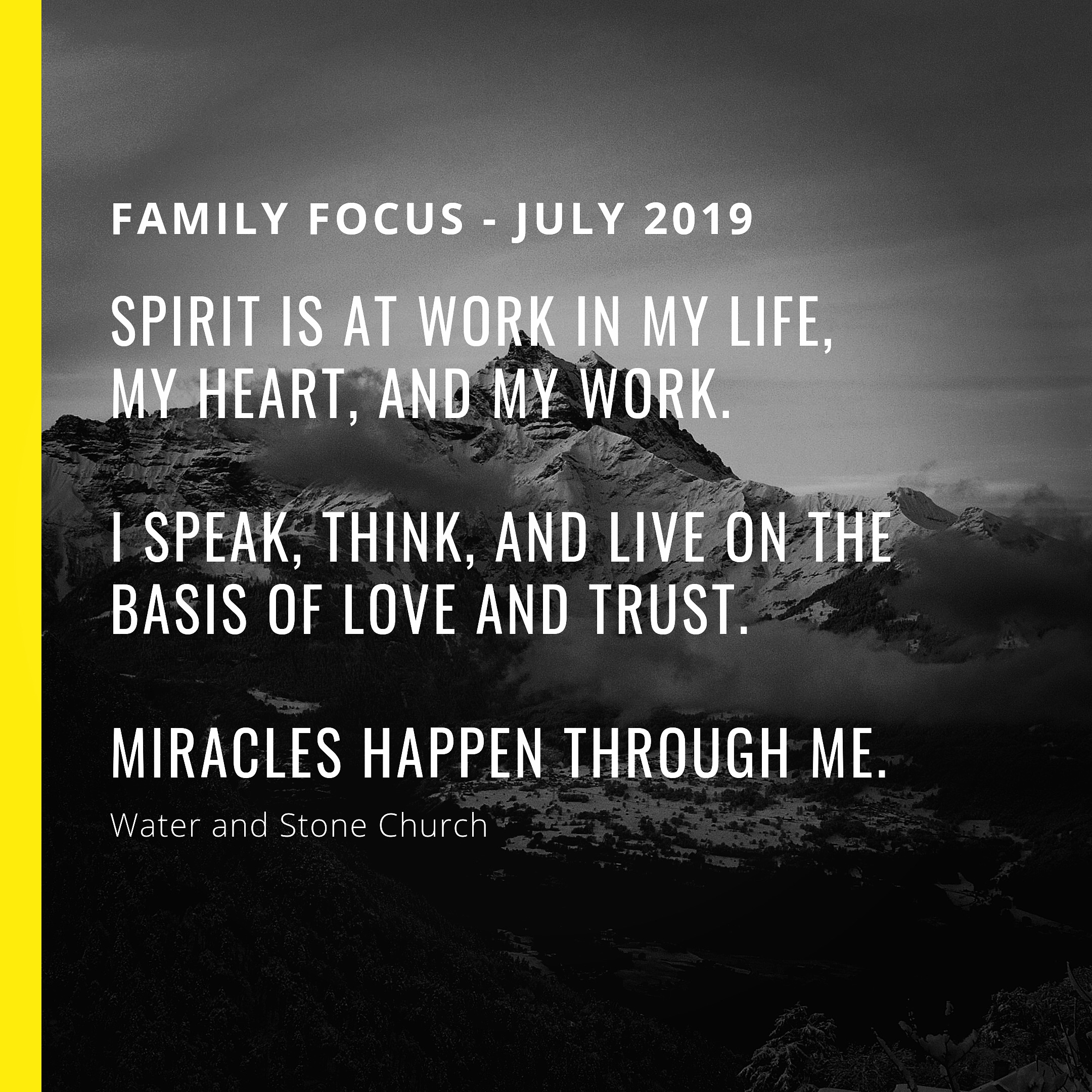 Family Focus - July 2019 — Water and Stone Church