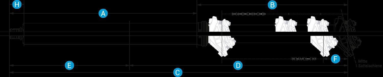 Technische Zeichnung absenkbare Sattelstütze Vecnum NIVO