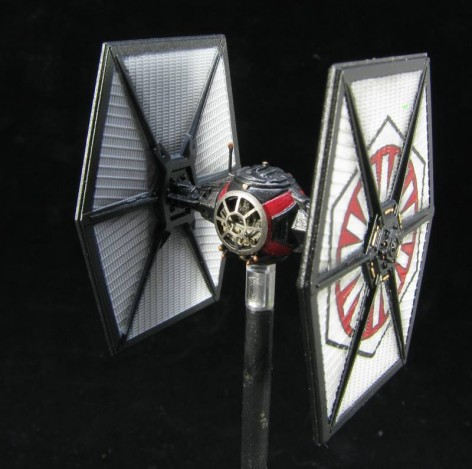Blogger - SpikeyBits - Repainted Tie Fighter