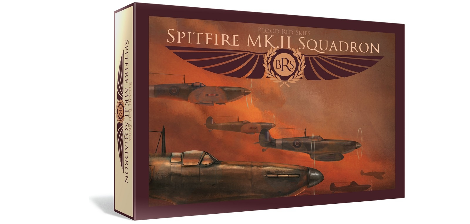 Warlord Games - Blood Red Skies - British Spitfire Squadron (6 Planes)