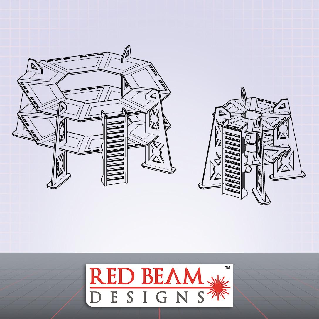 Complex Red - 2 Storey Tower Set