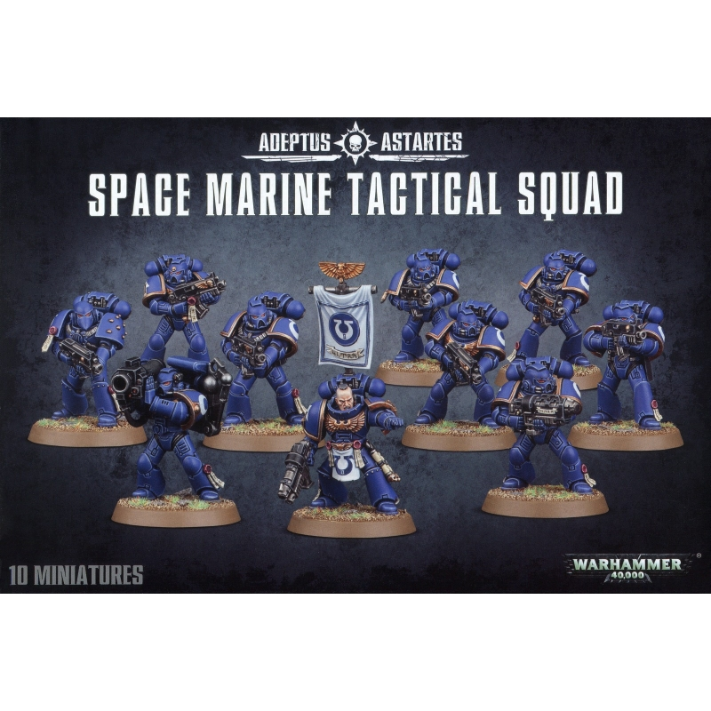 Warhammer 40k - Adeptus Astartes - Space Marines - Space Marine Tactical Squad