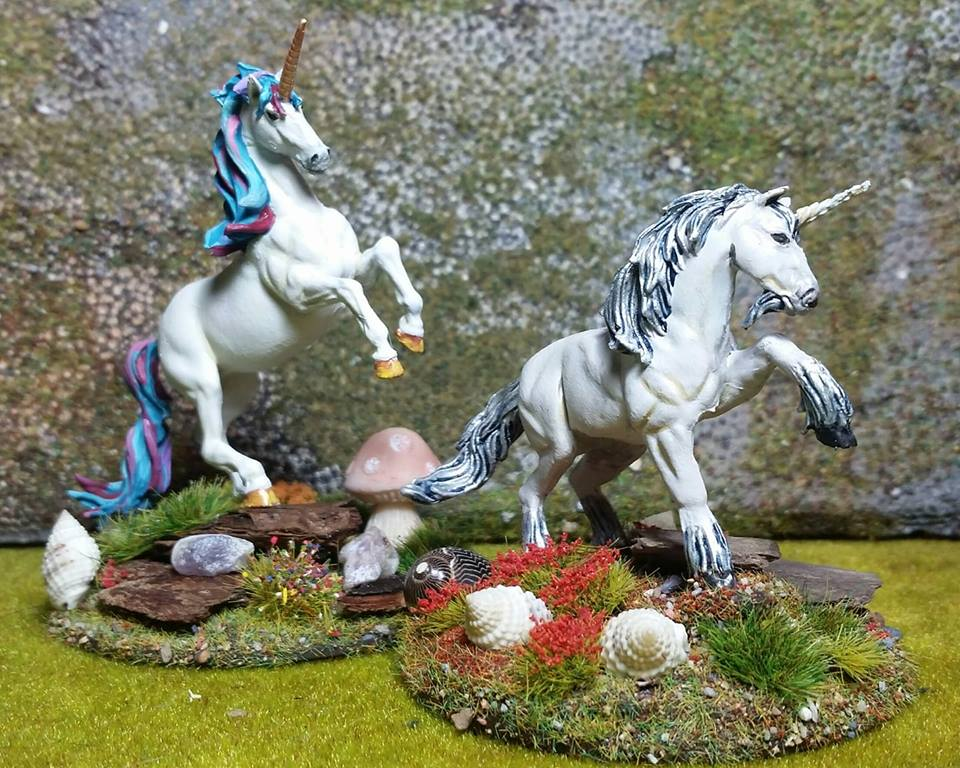 Shaun has been adding to his unicorn collection and working on some great looking woodland basing.