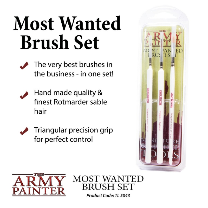 Harry Potter Miniatures - Army Painter Brushes - Most Wanted Brush Set
