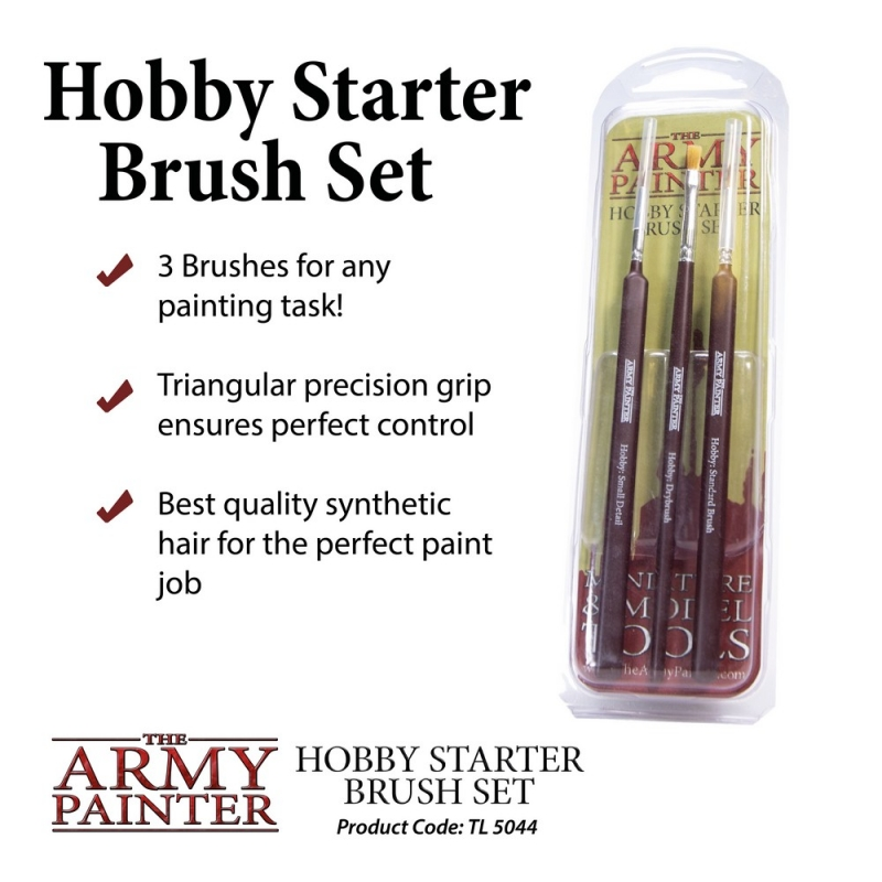 Harry Potter Miniatures - Army Painter Brushes - Hobby Starter Brush Set
