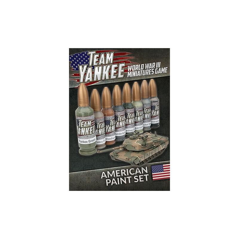 Team Yankee American Paint Set