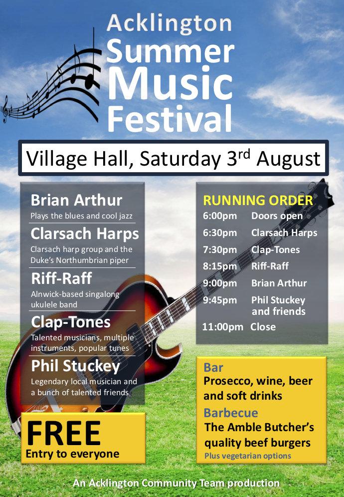 Acklington Summer Music Festival.