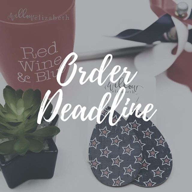 🚨LAST CALL! 🚨  The order deadline for July 4th will be Friday, June 28th! Any order placed after that date can not be guaranteed for July 4th delivery. 🇺🇸