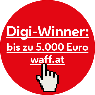 Dieser Online Lehrgang der LIK Akademie für Foto und Design ist für die Digiwinner Förderung von AMS und waff Wien anerkannt!   Die Digitalisierung verändert unsere Arbeitswelt und viele Berufe. Das öffnet Arbeitnehmerinnen und Arbeitnehmern neue Türen und bringt auch neue Herausforderungen. Gemeinsam fördern Arbeiterkammer Wien (AK) und der waff mit dem Digi-Winner berufliche Aus- und Weiterbildungen im Bereich Digitalisierung. Den  Digi-Winner  gibt es für  Wienerinnen und Wiener , die  AK-Mitglied  sind. Sie können damit  bis zu   5.000 Euro  Förderung für berufliche Weiterbildung bekommen.  https://www.waff.at/foerderungen/digi-winner/