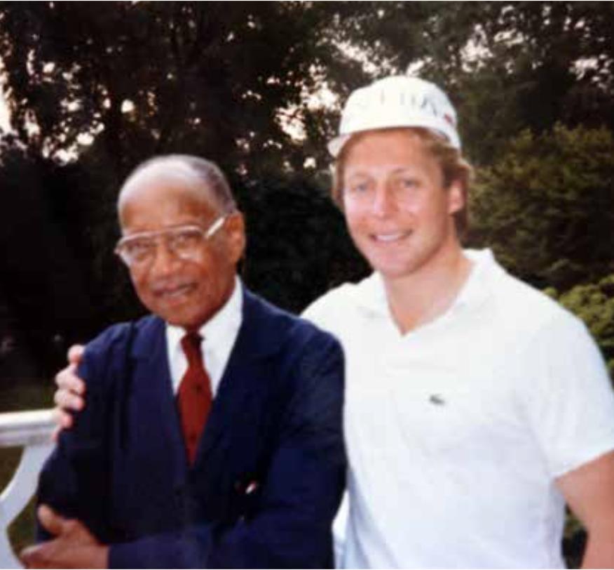 Rick Pivirotto '77 with Mr. Davis