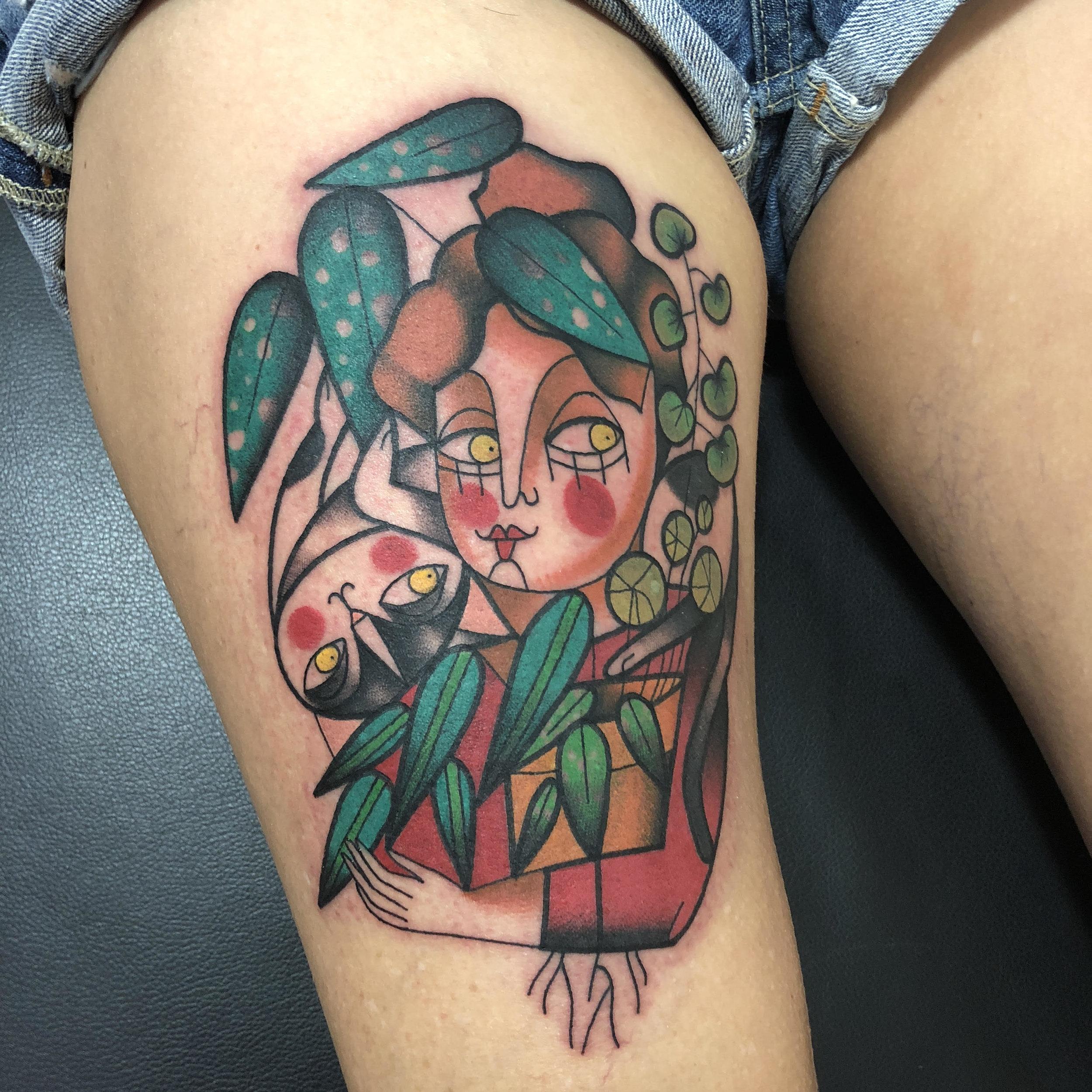 tatuaggi piante vinil