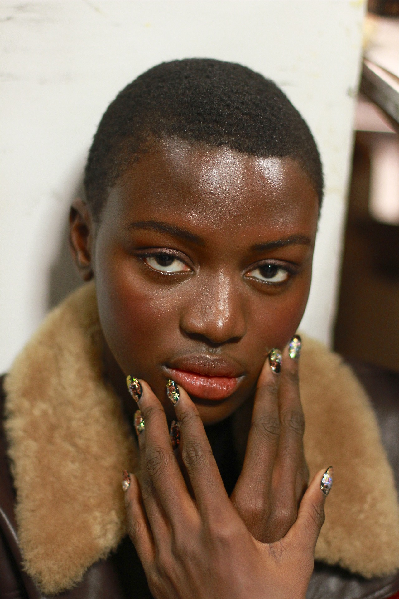 That crop. The coral glow.  Backstage at Naeem Khan AW17.     Hair: Tresemme | Makeup: Maybelline       Image:  The Greyest Ghost  for Cult of Pretty
