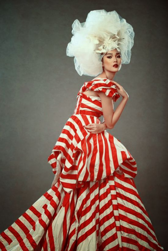 candy cane couture.    only 2 days left until our holiday giveaway..      Image by Jerry Aurum